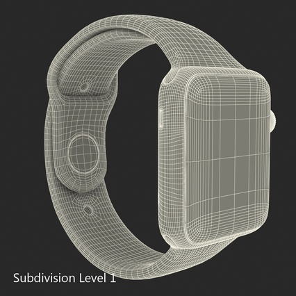 Apple Watch Sport Band White Fluoroelastomer 2. Render 32