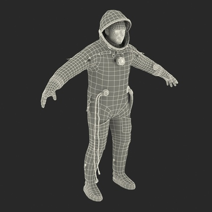 Russian Astronaut Wearing Space Suit Sokol KV2 Rigged for Maya. Render 55