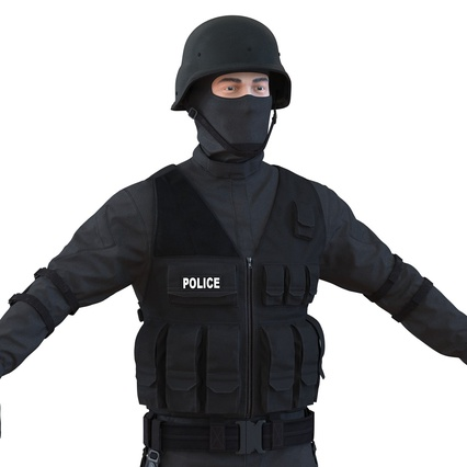 SWAT Man Mediterranean Rigged for Maya. Render 24