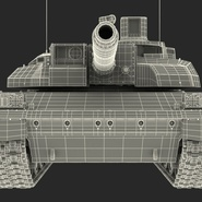 French Army Tank AMX-56 Leclerc Rigged. Preview 27