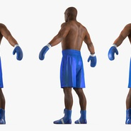 African American Boxer Rigged for Cinema 4D. Preview 11