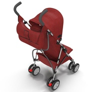 Baby Stroller Red. Preview 15
