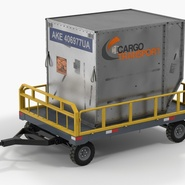 Airport Luggage Trolley Baggage Trailer with Container. Preview 3