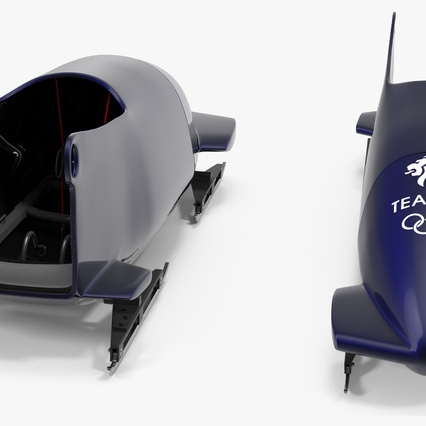 Bobsled Two Person Team GB. Render 10