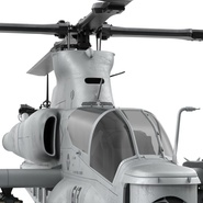 Attack Helicopter Bell AH 1Z Viper Rigged. Preview 53