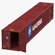 53 ft Shipping ISO Container Red