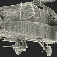AH-64D Apache Longbow Japan Rigged. Preview 28