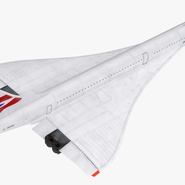 Concorde Supersonic Passenger Jet Airliner British Airways Rigged. Preview 10