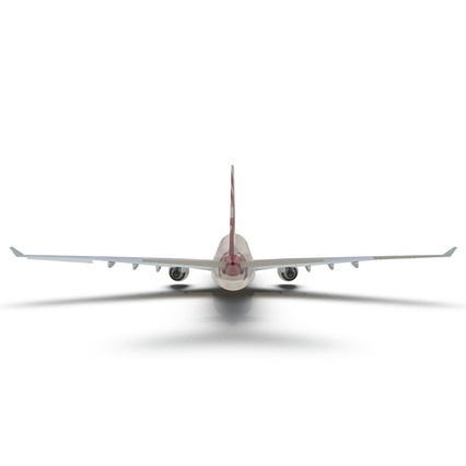 Jet Airliner Airbus A330-300 Qatar Rigged. Render 23