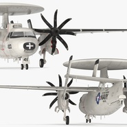 Grumman E-2 Hawkeye Tactical Early Warning Aircraft Rigged. Preview 15