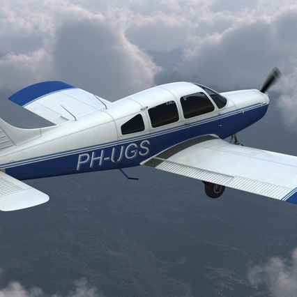 Piper PA-28-161 Cherokee Rigged. Render 9