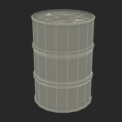 Oil Barrel Shell. Render 4