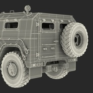 Russian Mobility Vehicle GAZ Tigr M Rigged. Preview 88