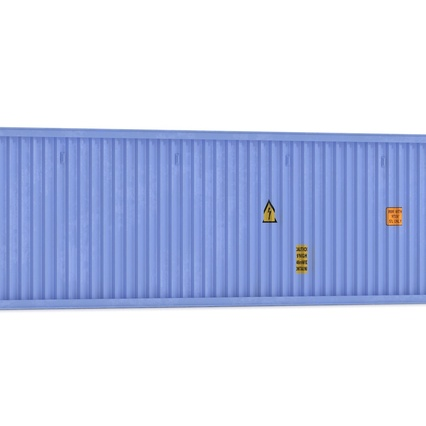 45 ft High Cube Container Blue. Render 19