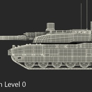 French Army Tank AMX-56 Leclerc Rigged. Preview 22