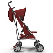 Baby Stroller Red. Preview 8