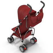 Baby Stroller Red. Preview 16