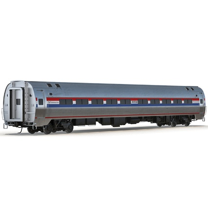 Railroad Amtrak Passenger Car 2. Render 8