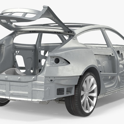 Tesla Model S Frame and Chassis. Render 16