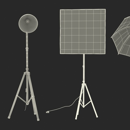 Photo Studio Lamps Collection. Render 71