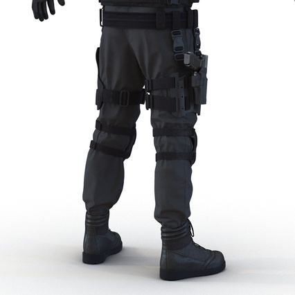 SWAT Man Mediterranean Rigged for Maya. Render 32