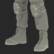 SWAT Man Mediterranean Rigged for Cinema 4D. Preview 62