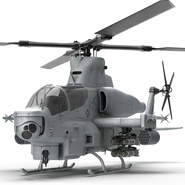 Attack Helicopter Bell AH 1Z Viper Rigged. Preview 36