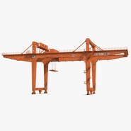 Rail Mounted Gantry Container Crane Rigged Orange