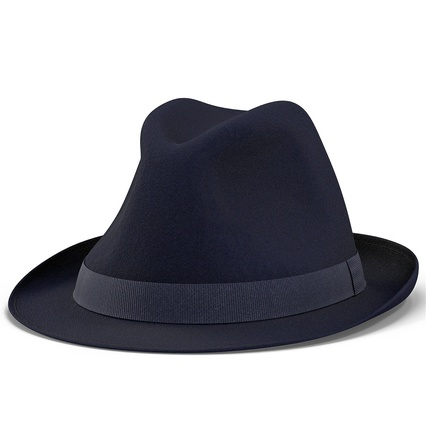 Fedora Hat Blue. Render 13
