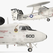 Grumman E-2 Hawkeye Tactical Early Warning Aircraft Rigged. Preview 13