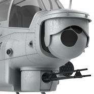 Attack Helicopter Bell AH 1Z Viper Rigged. Preview 68