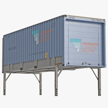 Swap Body Container ISO Blue. Render 1