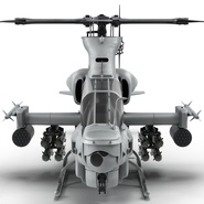 Attack Helicopter Bell AH 1Z Viper Rigged. Preview 17