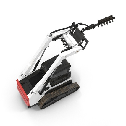 Compact Tracked Loader with Auger. Render 21