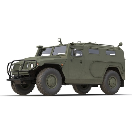 Russian Mobility Vehicle GAZ Tigr M Rigged. Render 24