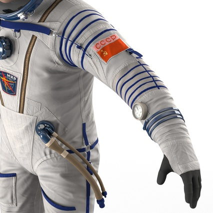 Russian Astronaut Wearing Space Suit Sokol KV2 Rigged for Maya. Render 39