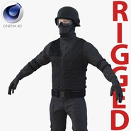 SWAT Man Rigged 2 for Cinema 4D