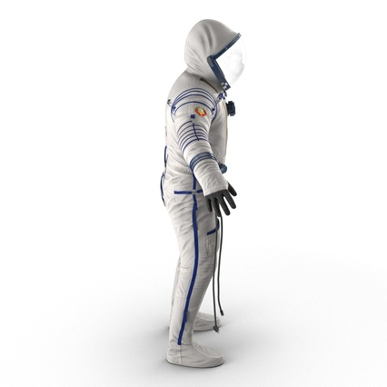 Russian Space Suit Sokol KV2 Rigged. Render 11