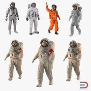 Rigged Astronauts Collection 3