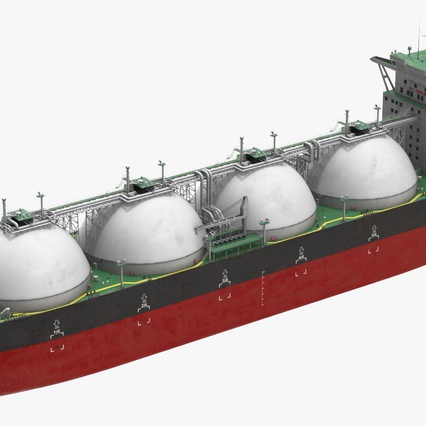 Gas Carrier Ship. Render 6