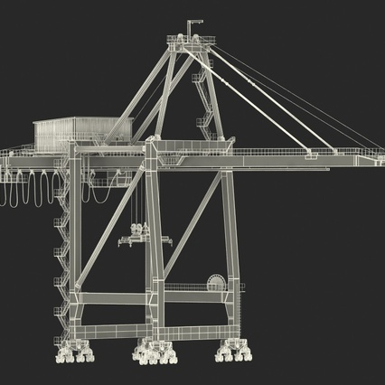 Container Crane Blue. Render 4