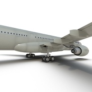 Jet Airliner Airbus A330-300 Northwest Airlines Rigged. Preview 43