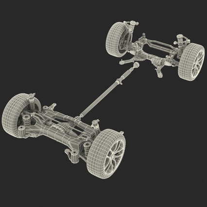 Sedan Chassis. Render 48