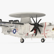 Grumman E-2 Hawkeye Tactical Early Warning Aircraft Rigged. Preview 10