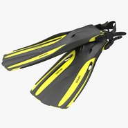 Oceanic Viper Fins Yellow