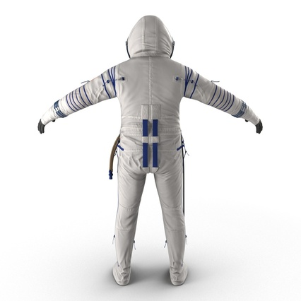 Russian Space Suit Sokol KV2 Rigged. Render 13