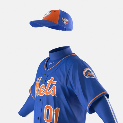 Baseball Player Outfit Mets 2. Render 22