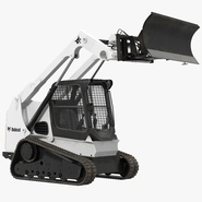 Compact Tracked Loader Bobcat With Blade Rigged. Preview 1