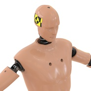 Male Crash Test Dummy Rigged for Cinema 4D. Preview 22