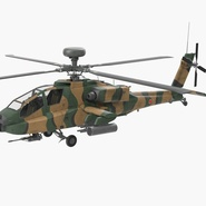 AH-64D Apache Longbow Japan Rigged. Preview 3